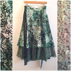 Dresses & Skirts - Floral Wrap Skirt Reversible Convertible Plus